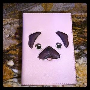 Kate spade pug year of the dog passport wallet NWT